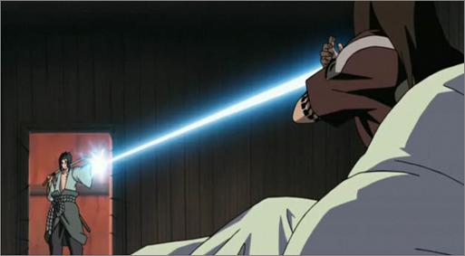 Sasuke Uchiha Usando El Estilo Rayo Chidori Eiso