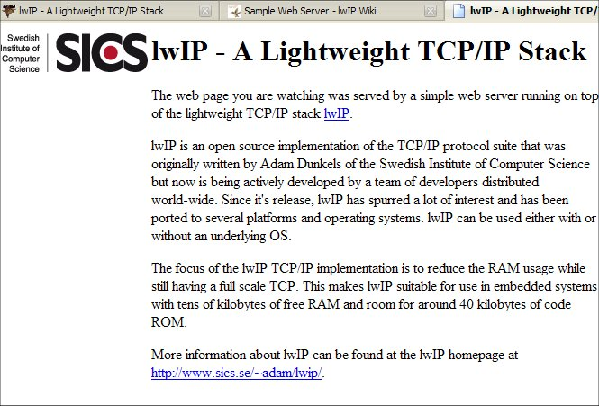 Sample Web Server | lwIP Wiki | FANDOM powered by Wikia