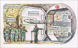 Схема гермозатвора