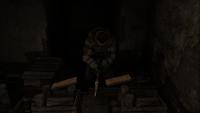 Ульман рубит дрова