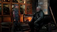 Мельник и Кирилл в убежище Хлебниковых