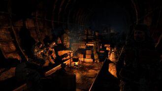 Лагерь выживших жителей