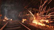 Взорванный поезд