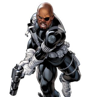 Nick Fury Junior w mundurze T.A.R.C.Z.Y
