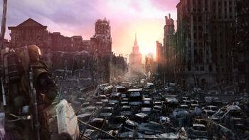 Москва, концепт игры «Metro Last Light»