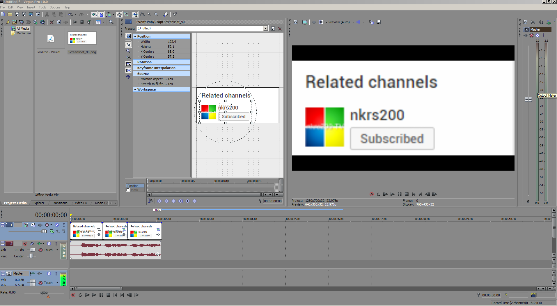 Starter kittutorial watermarking your video sony vegas tutorial in sony vegas load up your g file baditri Choice Image