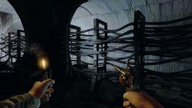 Аномалия двигается по туннелю с упырями