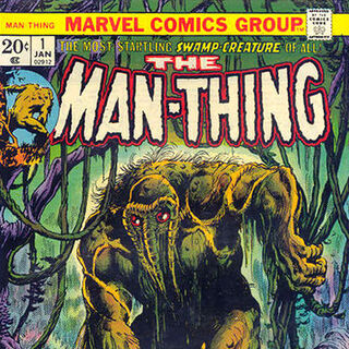 Man-Thing na okładce komiksu