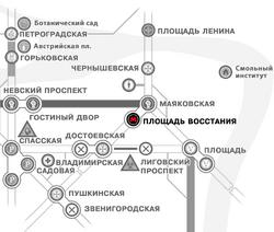 Borders map