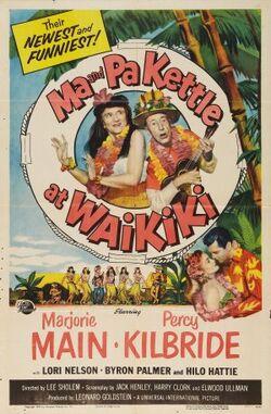 Ma and Pa Kettle at Waikiki movie poster
