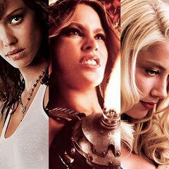 The leading ladies of Machete Kills.