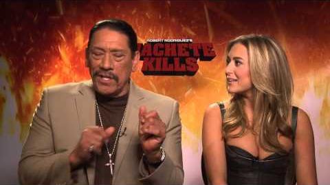 Machete Kills Interviews Danny Trejo and Alexa Vega