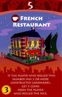 Machi koro french restaurant en