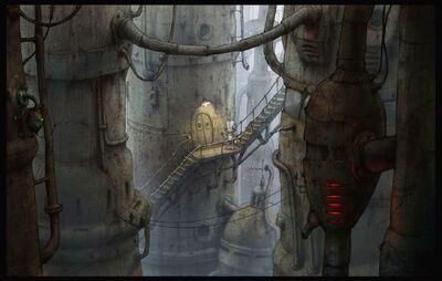 13. Elevator Stairway