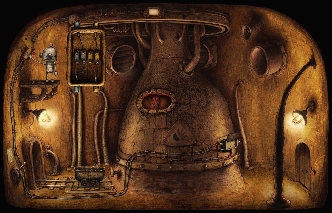 Junction Box Puzzle Machinarium Wiki Fandom Powered By Wikia Furnace Wiring The Mini Game On Screen
