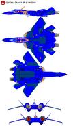 YF21 Fighter-Left-Top-Bottom-Front-Back