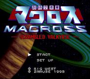 Choujikuu Yousai Macross - Scrambled Valkyrie Title