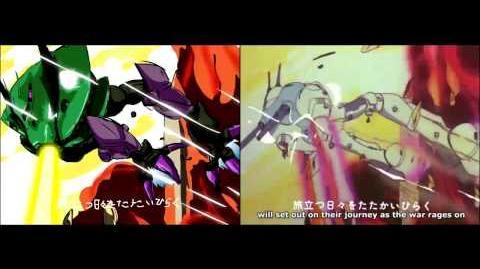 M draws the Super Dimension Macross Opening A comparison video (v2)