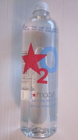 Bottle of Macy's water