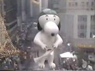 Aviator Snoopy with Santa Claus 1985
