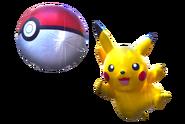 Pikachu and pokeball transparent
