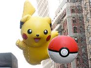 Pikachu with PokéBall balloon 2012