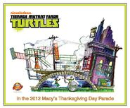 TMNT Concept Float Sketch-Nickelodeon-Epic-Teenage-Mutant-Ninja-Turtles-2012 Macys-Thanksgiving-Day-Parade-Float-Concept-Design-Sketc