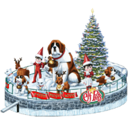 Elf Pets Float (with Arctic Foxes)