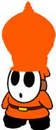 Reo the Orange Samurai Shy Guy