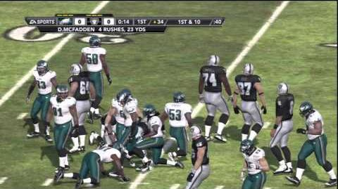 Madden NFL 12 Gameplay (PS3) - Philadelphia Eagles at Oakland Raiders