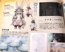 Nanachi information page from the artbook