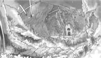 Graveyard behind Nanachis hut in the Manga