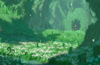 The graves behind the hideout in the Anime