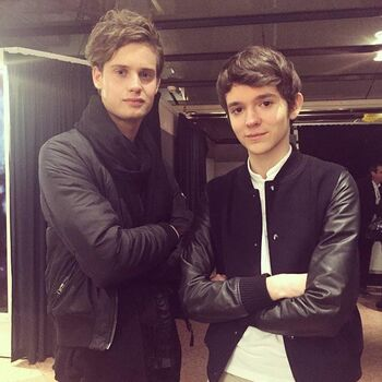 "Oscar Lindblad with <a href=""/wiki/Madeon"" title=""Madeon"">Madeon</a>"