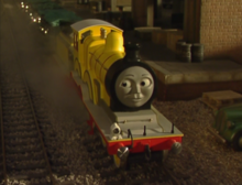 Molly the yellow tender engine