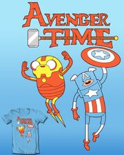 Avenger Time T-Shirt (Not really MAD's parody)