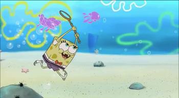Mad SpongeBob Taking Nemo