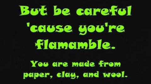 Flammable lyrics MAD Cartoon Network