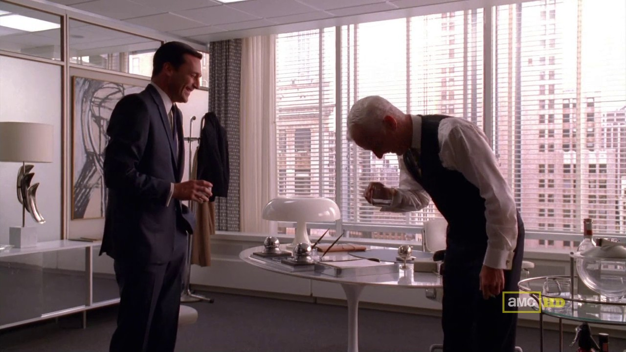 Roger Sterling Office On The Waldorf Stories Don Roger Laugh Danny Waldorf Stories Mad Men Wiki Fandom Powered By Wikia