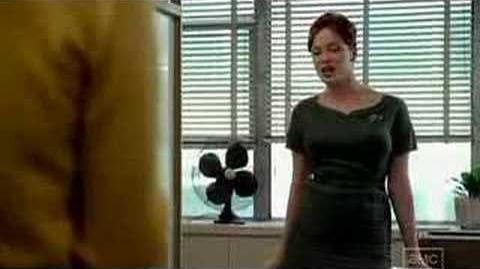 Mad Men - Joan (Christina Hendricks) gives Peggy the 411
