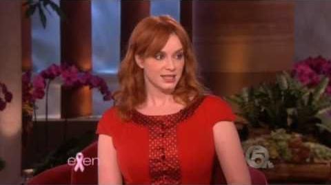 Christina Hendricks On Ellen Show