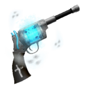 Ghost blaster particles