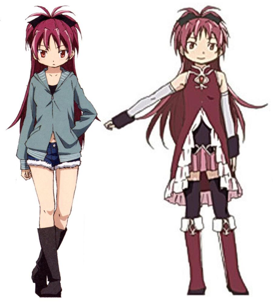 Kyoko Sakura The Puella Magi Wiki Fandom