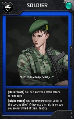Jobcard soldier