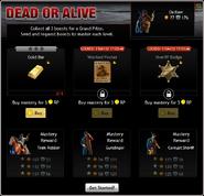Dead or Alive Menu