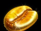 Gold Coffee Bean