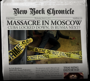 Massacre In Moscow Neswpaper