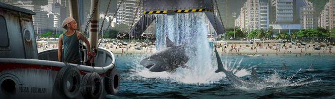 Create a shark scare at the beach 760x225 01