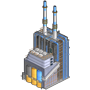 Electrical power plant icon