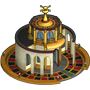 Roulette casino built icon